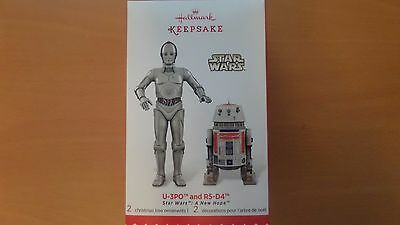 SDCC 2015 Hallmark Star Wars Ornament Exclusive U-3PO AND R5-D4 - Free Shipping