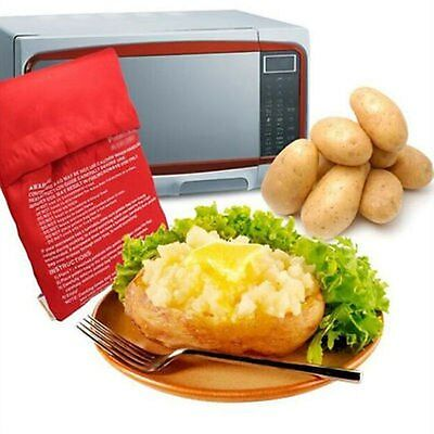 Microwave Oven Potato Baking Bag Steam Pocket(cooks 4 potatoes at once) Washable