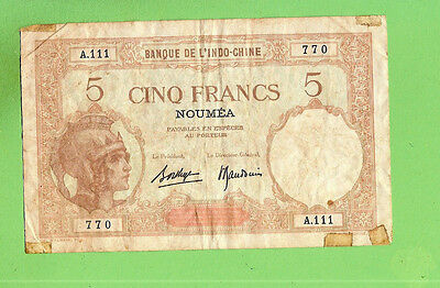 #D286. 1960s TYPE  NEW  CALEDONIA  50 FRANCS  BANKNOTE A.111 770, LARGE
