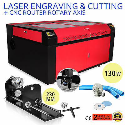 130w Co2 Laser Engraving Cnc Rotary Axis Cutter Tool 3-Jaw Air 230mm Track Kit