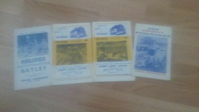 4 Rugby League Programmes From The 1960's (Listed)