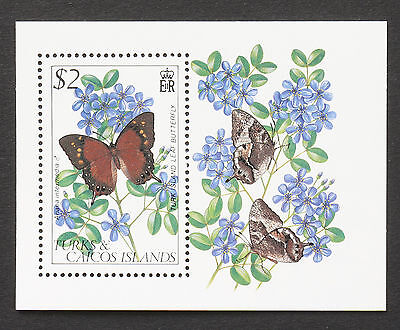 Turks and Caicos Islands 1982 Butterfly MNH Miniature Sheet