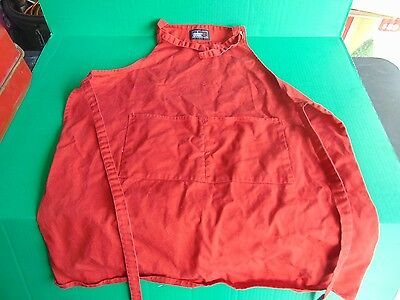 COOKING APRON WEBER Barbecue Kitchen Smock W/Pockets Red Large (NEW) Cooks