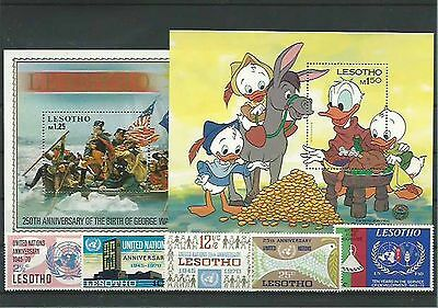 11.061/ Lot / Mixture ** MNH mit Blocks Lesotho Disney usw.