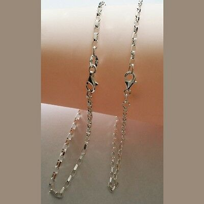Anklet Sterling Silver BELCHER oval diamond cut 3mm BO2D Cartier clasp QUALITY