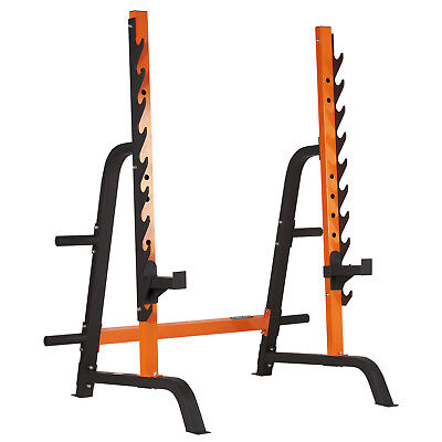 MIRAFIT Heavy Duty Squat/Dip Rack Weight Lifting Home Barbell Rack Spotter Stand