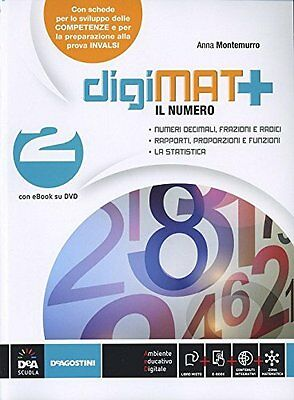 Digimat+ 2 +cd matematica sc.media montemurro [9788841875841]