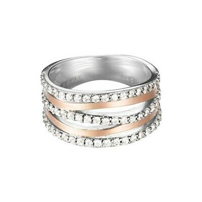 Esprit Damen Ring Rosé Bicolor Zirkonia Sunset ESRG92274A1