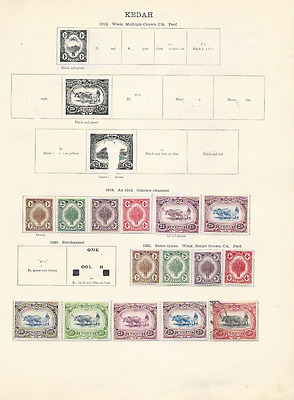 Kedah Collection To 1935 (26 Stamps)