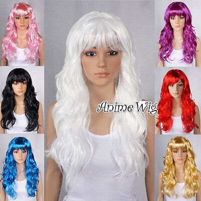 60CM Curly Fancy Dress Party Women Lady Long Curly Full Wigs Cosplay Costume Wig