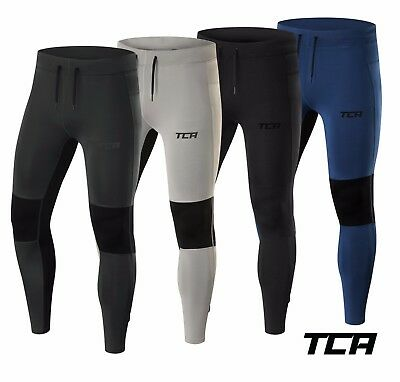 TCA Mens Power Fitness & Running Tights with Zip Pockets and Hems