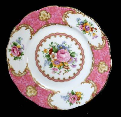 Vintage Royal Albert Lady Carlyle pretty pink floral tea plate