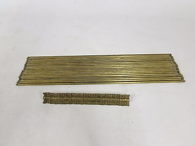 LARGE  SET 18 ANTIQUE BRASS  STAIR RODS AND 36 BRACKETS SOLID BRASS 76cm LONG