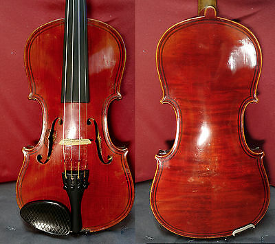 4/4 Giovan Facit Maggini Violin Old Fine Full Size case and bow Watch Video !