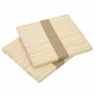 50PCS Wooden Waxing Wax Spatula Tongue Depressor Disposable Bamboo Sticks