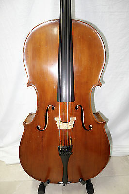 4/4 Exotic Old German Cello with Amazing Sound! Case + Bow Watch Video Hear Tone