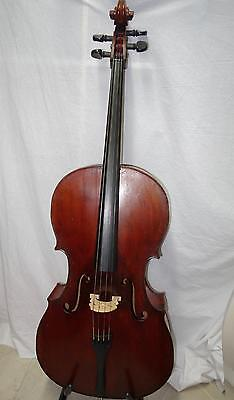 7/8 Old German Cello Amazing Tone solid wood with bow case Watch Video Nice Tone