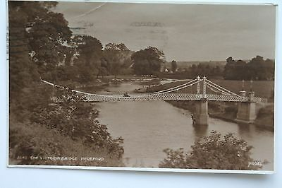 The Victoria bridge Hereford c1928 Judges real photo postcard.