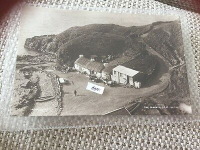 1938 The Niarbyl Isle Of Man Iom Real Photo Elevated View Of Cars Cottages Etc