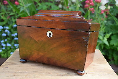 Victorian Tea Caddy for restoration old vintage antique box caddies original