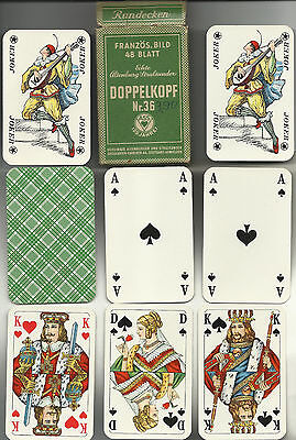 german doppelkopf game 1950s green back playing cards very nice condition