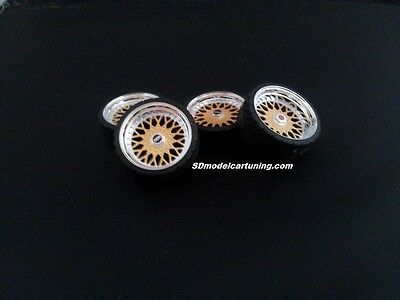 1:18 Scale BBS RS 19 INCH TUNING WHEELS, Multiple colours available!!