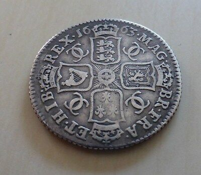 1663 Charles shilling, first year