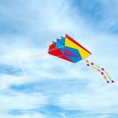 Pocket Parafoil Kite with string - Colourful Long Tail in Pouch Easy Outdoor Fun
