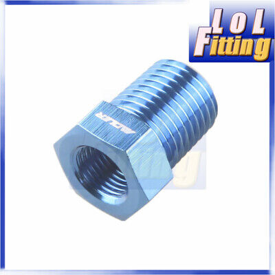 1/4'' NPT Male to 1/8'' NPT Female Straight Fitting Adapter Aluminum Alloy Blue