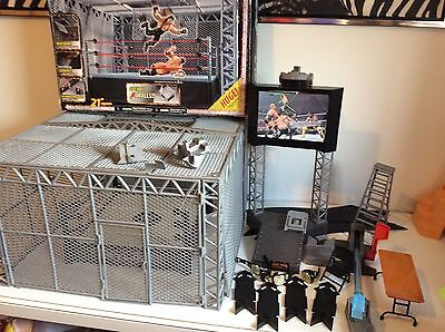 WWE The Cell Cage (not Complete) Plus A Ring & Includes Some Accessories