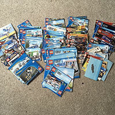 Over 80 Lego Instruction booklets City, Harry Potter, Star Wars, Superheroes