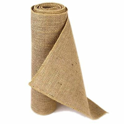 10M Hessian Table Runners Cloth Sewn Edge Wedding Decoration Vintage Shabby Chic