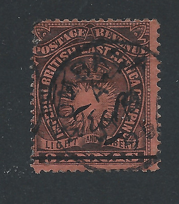 BRITISH EAST AFRICA 1895 ½a on 3a BLACK/DULL RED FU SG 31 CAT £55