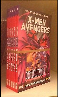X-men Avengers Onslaught collection Marvel Panini Comics completa ALBI IMBUSTATI