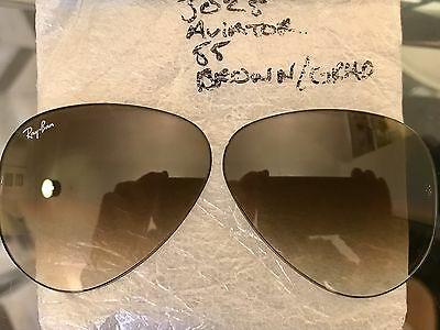 Ray Ban RB3025  New Aviator Brown Grad Lenses Size 55
