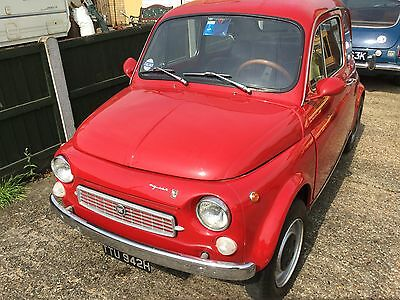"""RARE FIAT 500 1970 FRANCIS LOMBARDI """"MY CAR """" the man who built the pope mobil"""