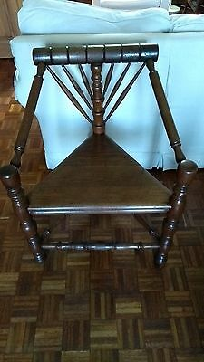 Antique 19th Century Oak Turners Chair