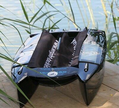 Angling Technics Microcat bait boat, Wright Tackle Hopper Drapes in Black