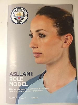 Manchester City Women FC v Brondby IF Football Programme (Season 2016)