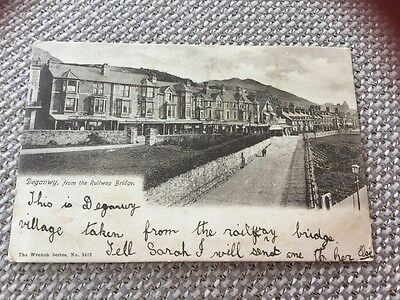Deganwy 1905 From The Railway Bridge Shop Fronts To Nantwich Cheshire Hatherton