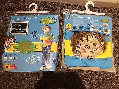 New Official Horrid Henry Boys Fancy Dress Kids Book Week Kids Costume Mask 5-6