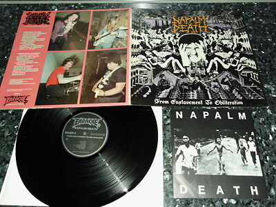 "NAPALM DEATH - FROM ENSLAVEMENT GATEFOLD ORG. LP incl.7"" Bolt Thrower Terrorizer"