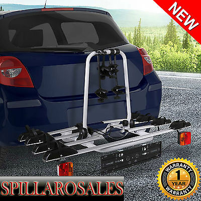 4 Bicycle Car Bike Carrier Rack Towbar Towball Hitch Ball Mount  Silver