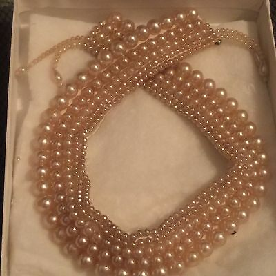 EUC ESTATE VINTAGE PEARL COLLAR BY GLENTEX MADE IN JAPAN 13.5 INCHES - 1950s