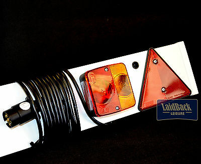 Maypole Quality TRAILER LIGHT BOARD 4Ft  4 Function LIGHTS 7 PIN 5m Cable MP253P