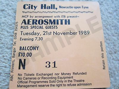 Aerosmith/Steven Tyler Concert Coasters Ticket November 1989 High quality