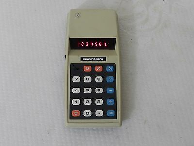 Vintage Commodore 776M LED calculator GWO