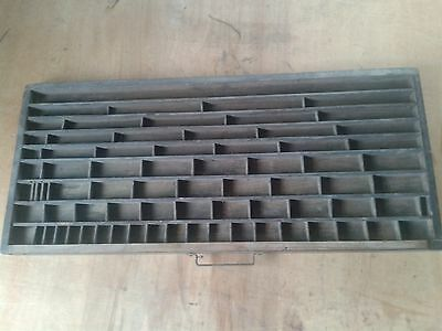 Antique Wooden Printers Drawer Tray Wall Display Rack Letterpress Vintage