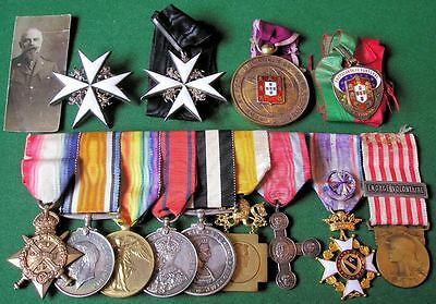 Superb Early St.johns Ambulance Medal Group With Assorted Orders & Mons Trio