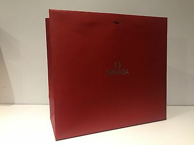Used - OMEGA - bolsa de papel Roja - Red Paper bag - 35 x 31 x 15 cm
